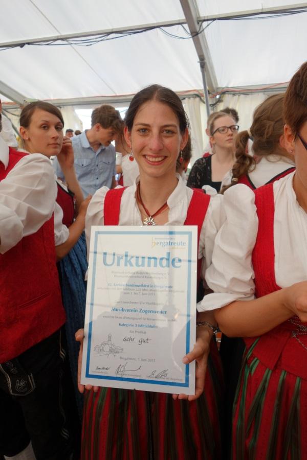 Erfolgreiche Teilnahme am Wertungsspiel in Bergatreute